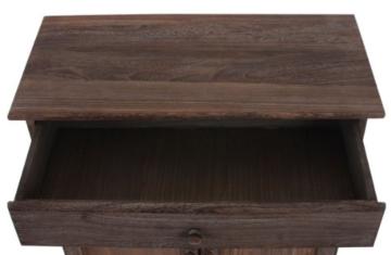 Kommode Schrank, 78x66x33cm, Shabby-Look, Vintage ~ braun - 6