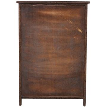Kommode Schrank, 82x55x30cm, Shabby-Look, Vintage braun - 3