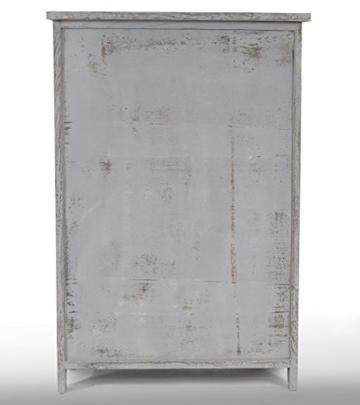 Kommode Schrank, 82x55x30cm, Shabby-Look, Vintage grau - 4