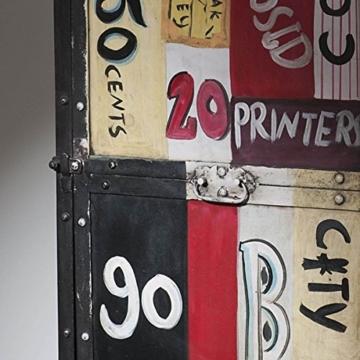 Kommode Sideboard Anrichte Eidar Metall im Vintage Look bunt Breite 50 cm Tiefe 40 cm Höhe 145 cm - 3