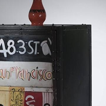 Kommode Sideboard Anrichte Eidar Metall im Vintage Look bunt Breite 50 cm Tiefe 40 cm Höhe 145 cm - 4