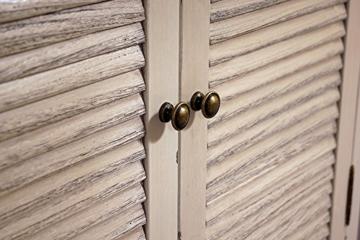 Landhausmöbel - Kommode Bretagne - Landhaus Schrank - Holz Vintage Look creme weiß - 7