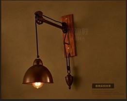 Larsure Vintage Industrial Style Wandleuchte Wandleuchte Lampe Retro nostalgische Bar Restaurant Schlafzimmer Loft industrial Wind villa Bar net/Teleskop kreative Wandleuchte - 1
