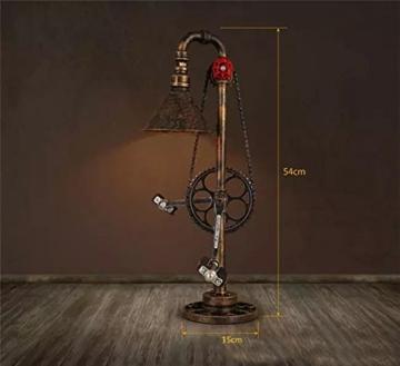 Lederkram Exklusive Schlafzimmer Deko Lampe Vintage Fahrrad Metallkette Wasserrohr Tischlampe Nachgischlampen Deco LED Nachtspinne Mann Lampe / Tischleuchten / Tischlampe Schlafzim - 2