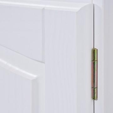 Links 20900802 Kommode Anrichte Sideboard Holzkommode Kiefer massiv weiß 2-türig Schubladen NEU - 4