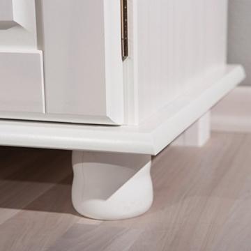 Links 20900802 Kommode Anrichte Sideboard Holzkommode Kiefer massiv weiß 2-türig Schubladen NEU - 5
