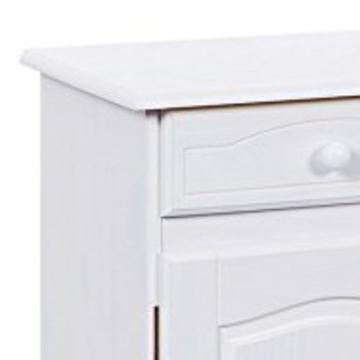 Links 20900802 Kommode Anrichte Sideboard Holzkommode Kiefer massiv weiß 2-türig Schubladen NEU - 9