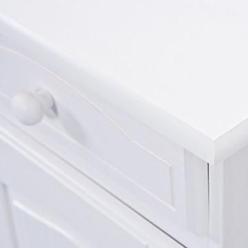 Links 20900802 Kommode Anrichte Sideboard Holzkommode Kiefer massiv weiß 2-türig Schubladen NEU - 10