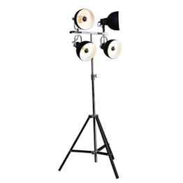 LivingArt24de Designer Stehlampe Stehleuchte NORI schwarz - 1
