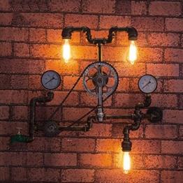 Loft Retro Edison Rad Lager Fahrrad Schmiedeeisen Wandleuchten für Wohnzimmer Schlafzimmer Bar Cafe Vintage Industrial Metall Steampunk Wasser Rohr Wand Lampe Leuchten Länge: 75 cm - 1