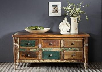 massiv Holz Möbel Vintage lackiert Sideboard Altholz massiv Möbel mehrfarbig Massivholz Rapunzel #01 - 2