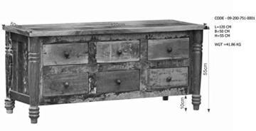 massiv Holz Möbel Vintage lackiert Sideboard Altholz massiv Möbel mehrfarbig Massivholz Rapunzel #01 - 7