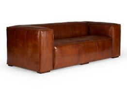 Massivum Calverton Sofa 3Sitzer Echtleder Vintage, Leder, braun, 104 x 244 x 76 cm - 1