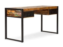 massivum Schreibtisch Quebec 150x80x60 cm Hartholz bunt lackiert - 1