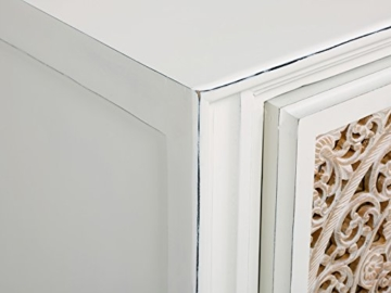 massivum Sideboard Valsad 203x80x50 cm Teak weiß lackiert - 6