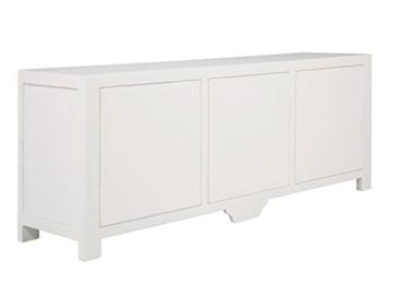 massivum Sideboard Valsad 203x80x50 cm Teak weiß lackiert - 7