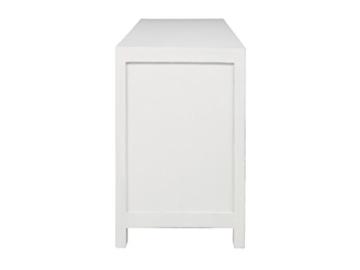 massivum Sideboard Valsad 203x80x50 cm Teak weiß lackiert - 8