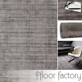 Moderner Teppich Lounge grau 200x290cm - edler Designer Teppich im Vintage Look - 1