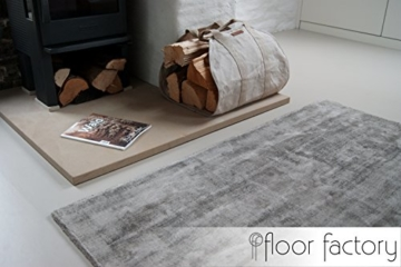 Moderner Teppich Lounge grau 200x290cm - edler Designer Teppich im Vintage Look - 3