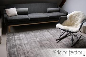 Moderner Teppich Lounge grau 200x290cm - edler Designer Teppich im Vintage Look - 4