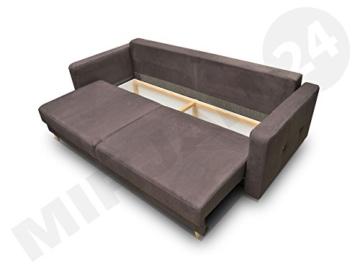 Modernes Schlafsofa Oliver, Couch mit Bettkasten und Schlaffunktion, Sehr bequemes Sofa, Bettsofa, Design Schlafcouch, synthetic Stoff, Wohnlandschaft (Eren 04 + Eren 05) - 3