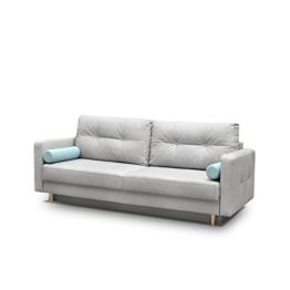 Modernes Schlafsofa Oliver, Couch mit Bettkasten und Schlaffunktion, Sehr bequemes Sofa, Bettsofa, Design Schlafcouch, synthetic Stoff, Wohnlandschaft (Eren 04 + Eren 05) - 1