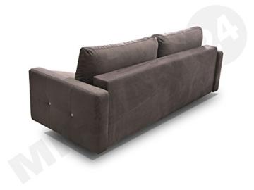 Modernes Schlafsofa Oliver, Couch mit Bettkasten und Schlaffunktion, Sehr bequemes Sofa, Bettsofa, Design Schlafcouch, synthetic Stoff, Wohnlandschaft (Eren 04 + Eren 05) - 4