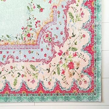 Pastell Vintage Teppich | im angesagten Shabby Chic Look | für Wohnzimmer, Schlafzimmer, Flur etc. | Pastell (225 x155 cm) - 2