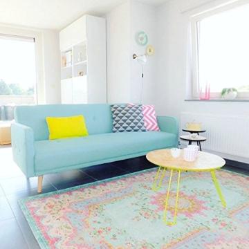 Pastell Vintage Teppich | im angesagten Shabby Chic Look | für Wohnzimmer, Schlafzimmer, Flur etc. | Pastell (225 x155 cm) - 4