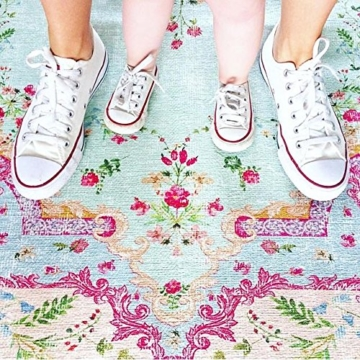 Pastell Vintage Teppich | im angesagten Shabby Chic Look | für Wohnzimmer, Schlafzimmer, Flur etc. | Pastell (225 x155 cm) - 5