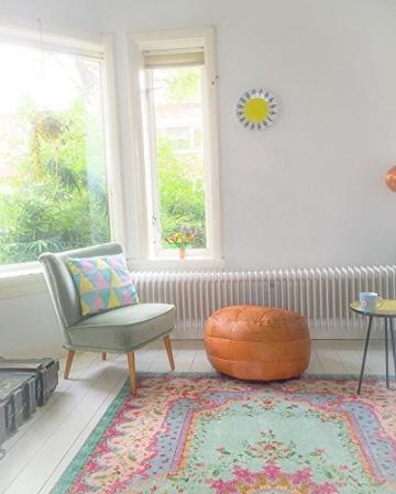 Pastell Vintage Teppich | im angesagten Shabby Chic Look | für Wohnzimmer, Schlafzimmer, Flur etc. | Pastell (225 x155 cm) - 6