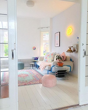 Pastell Vintage Teppich | im angesagten Shabby Chic Look | für Wohnzimmer, Schlafzimmer, Flur etc. | Pastell (225 x155 cm) - 7
