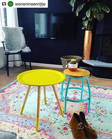 Pastell Vintage Teppich | im angesagten Shabby Chic Look | für Wohnzimmer, Schlafzimmer, Flur etc. | Pastell (225 x155 cm) - 8