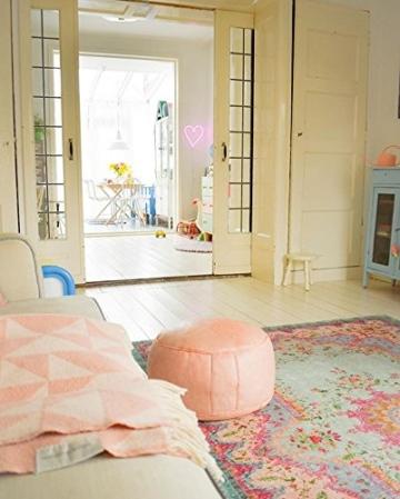 Pastell Vintage Teppich | im angesagten Shabby Chic Look | für Wohnzimmer, Schlafzimmer, Flur etc. | Pastell (225 x155 cm) - 9