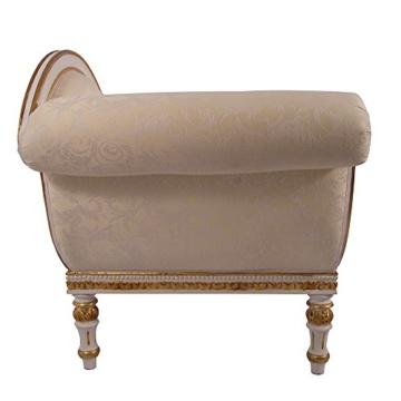 Recamiere Schwanendekor weiß gold Ottomane Chaiselounge links - 3