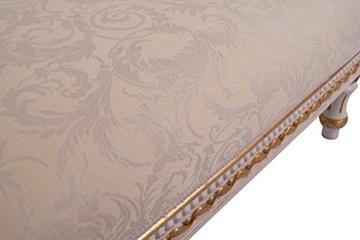 Recamiere Schwanendekor weiß gold Ottomane Chaiselounge links - 7