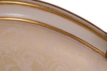 Recamiere Schwanendekor weiß gold Ottomane Chaiselounge links - 8