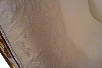 Recamiere Schwanendekor weiß gold Ottomane Chaiselounge links - 9