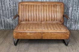 Retro Vintage 1950er American Auto Sofa Leder - 1
