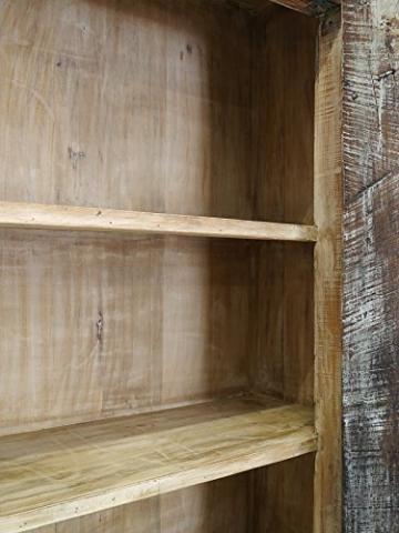 Schrank Kleiderschrank Vorratsschrank Vintage Sheesham Holz B: 142cm (6288) - 5