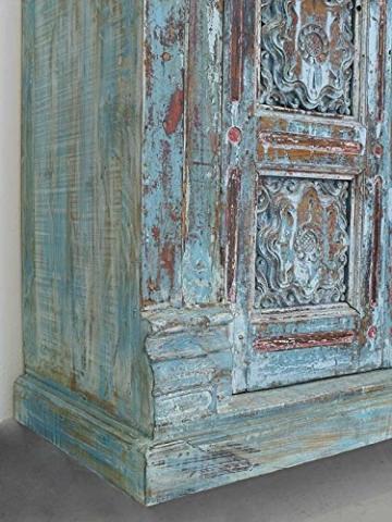Schrank Kleiderschrank Vorratsschrank Vintage Sheesham Holz B: 142cm (6288) - 6