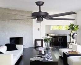 sdkky matt schwarz Deckenventilator Lampe American, einfach Vintage Fan Eisen Blatt, im europäischen Stil Project Fan Anhänger Raum Iron Leaf - 1