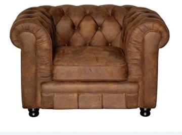 Sessel Chesterfield Vintage braun Oxford - 1