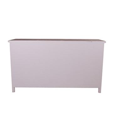 Sideboard mit Weinfach Varde Holz Vintage Look creme weiß - 5