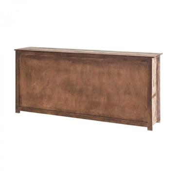 Sideboard Vintage Holz Bunt Massiv bemalt lackiert Kommode 193 cm Breit Mango Massivholz - 4