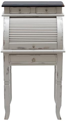"""SIT-Möbel 9753-97 Sekretär """"Spa"""", Akazie massiv, Farbe taupe, 4 Schubladen, 5 kleine Fächer mit Rollade, 55 x 41 x 100 cm - 1"""
