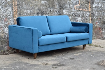 Sofa Venice Vintage Samt Blau 3 Sitzer 230 - 2