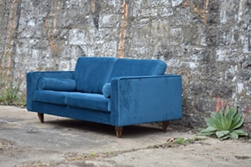 Sofa Venice Vintage Samt Blau 3 Sitzer 230 - 3