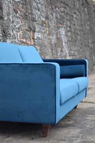 Sofa Venice Vintage Samt Blau 3 Sitzer 230 - 4