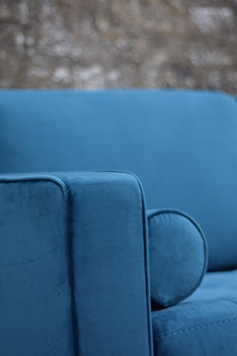 Sofa Venice Vintage Samt Blau 3 Sitzer 230 - 5